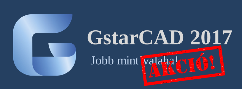 GstarCAD 2017 akció